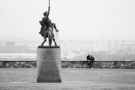 ブラチスラバ城の広場